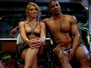 Female dominance and Foot worship Interracial Activity with Blonde Lea Lexis
