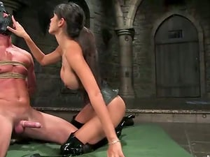 Superior Timid Love Masks and Ties a Fellow for a Gonzo Fucking in Bondage & discipline