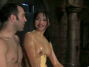Kinky Mika Sunburn thumbs and playthings boy's arse in female dom movie