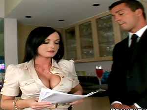 Adorable office chick gets butt fucked by her colleague