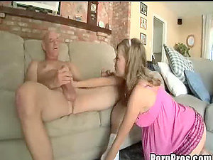 Whorish Blonde Teenager Film Her First-ever Hard-core Scene With A Horny Old Man