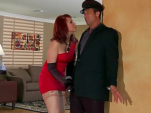 The Crimson Widow With Ginger-haired Nicki Hunter Hard Buttfuck Hook-up