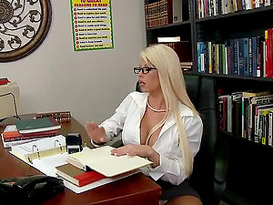 Banging the Gorgeous Blonde Cougar Brooke Haven in the Office