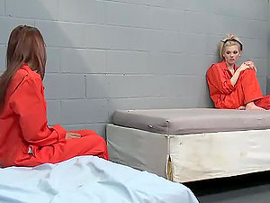 Dirty Girl-on-girl Jail Hook-up With Jayme Langford and Valerie Rios