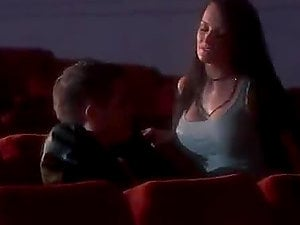 Black-haired Goes to The Cinema For A Gang-fuck