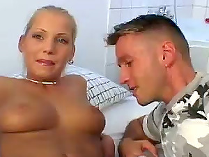 Ponytailed Euro Lovelies Get Spread and Fucked by Lucky Guys!