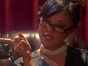 Sexy Black Whore Kaylani Lei In Interracial Act