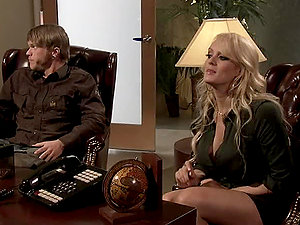 A Gonzo Scene With The Gorgeous Blonde Stormy Daniels