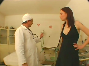 Old Physician Frigs That Dolls Vag Before Nasty Fucking