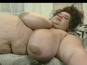 Fat BBW Gal Masturbating Her Raw Vagina With A Silver Fuck stick