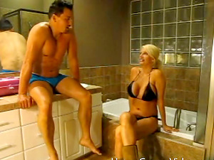 Hot Blonde With Big Tits And Hot Butt And Her Beau Having Fucky-fucky