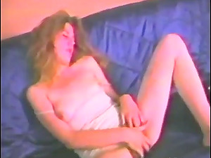 Solo Onanism By Insatiable Inexperienced Bitch With Hairy Vagina