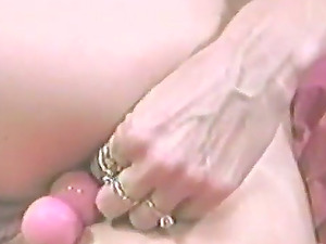 Retro flick with nasty blonde playing her arse and snatch