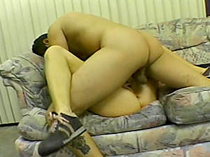 Ponytailed skank gets her vulva fucked in all known positions