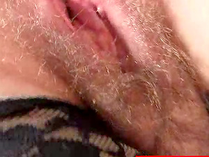 Mature Red-haired Tart With Glasses Touches Her Hairy Vagina