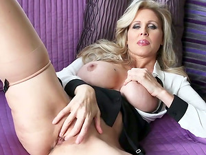 Horny And Hot Cougars Masturbating On Camera With Hot Raw Vulva