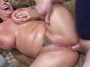 Angelica Sin deep-throats and titfucks a manstick and likes rectal hook-up
