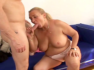 Mature Sharon Lane gets pounded by Dillion Day and facialed
