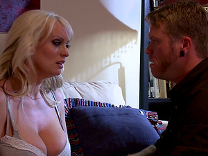 Hot Blonde Mummy With Big Tits Gets Snatch Slammed Insanely Hard