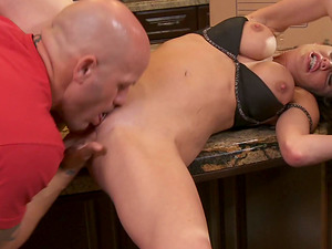 Veronica Avluv Treats Two Feet of Man sausage and Begs for More!