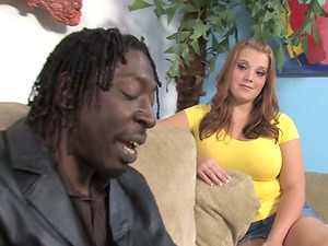 Big-chested Hoe With Large Natural Tits Gets Group-fucked By Few Black Dudes
