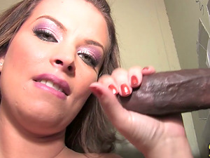 Bailey Brooks gets her cunt smashed by black dude in gloryhole activity