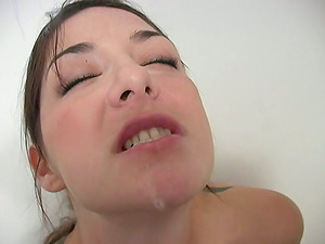 Hot Tattooed Black-haired Sucking Goloryhole Dong And Gulping Sperm