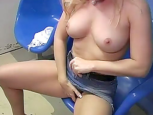 Sexy Blonde Chick Fellating Big Black Penis From Gloryhole