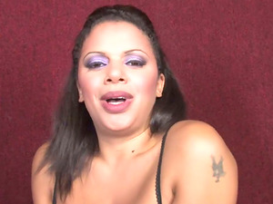 Big-boobed Megan Pryce gets her mouth and cunt fucked by a gloryhole man sausage