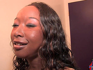 Stacey Cash likes jizm on her face after sucking a few pricks