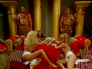 Amazing four-way in the Egyptian palace