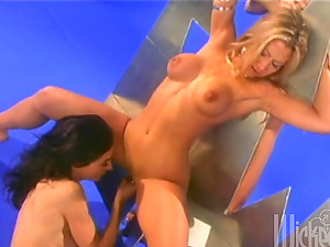 Retro lezzie threesome with some sizzling ones