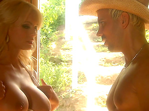 Sweet Amber Rayne has a sensuous lovemaking with a sheriff