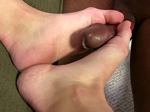 She Paws Her Snatch While Having Some Foot worship Joy