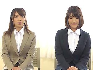 Japanese Gals Get Cum shot During Job Interview