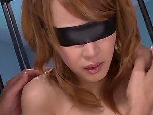 Jailed Japanese dame is under some manhandle