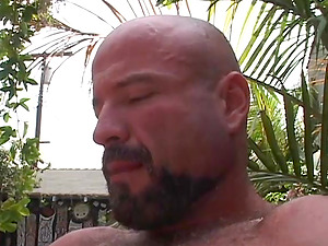 Bald Queer With Strong Pouch Munching A Tastey Cock-squeezing Anal invasion Immensely
