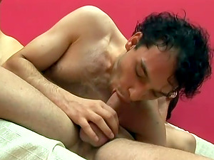 Horny faggot grizzly bj's a prick and welcomes it in his asshole