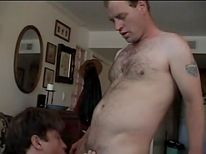 Queer hunks suck and rail each others big dicks excitedly