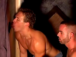 Homosexuals suck and rail each others dicks in a group hook-up movie