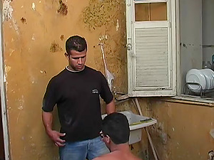 Lewd Latino yells noisily while getting his fag butt drilled by a hunk