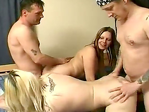 Chubby Unexperienced Bi-otches Get Gonzo Fucked In This Hot Four way
