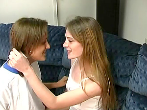 Sassy Sue and Cherise can't stop tonguing each other's vaginas