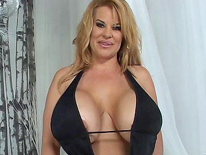 Crystal Storm shows her gigantic jugs and gets piledrived