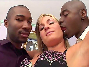 Two large black dicks is for Flower Tucci