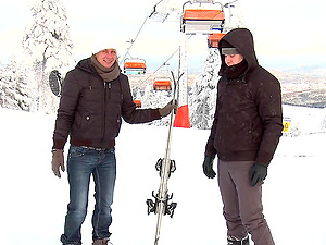 Ardent winter hookup in the street with kinky homosexuals Paul Fresh and Martty