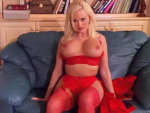 Big-titted Blonde Gets Jism In Her Mouth
