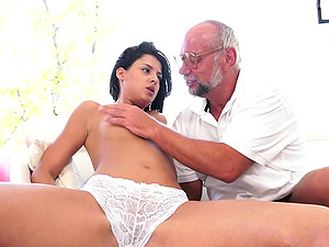 Coco de Mal is fucked bimbo by a horny old man