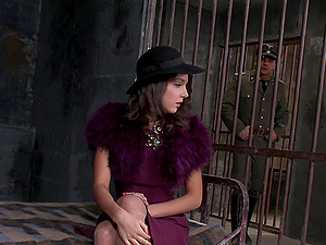 Lovely Brown-haired Prisoner In A Miniskirt Thrilled As She Is Ravished