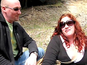 Two bitches Monika Maple and Jennifer Van Beaver have joy outdoors